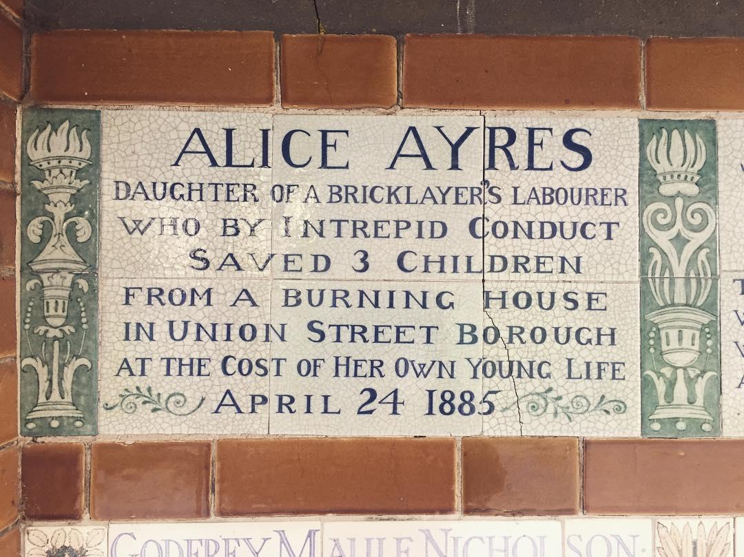 Alice Ayres Postmans Park