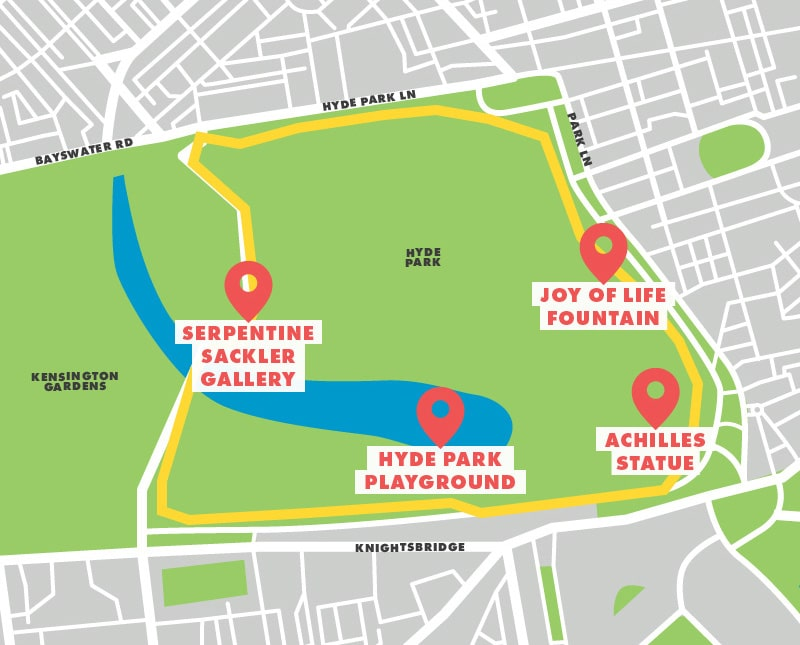Hyde Park London running route