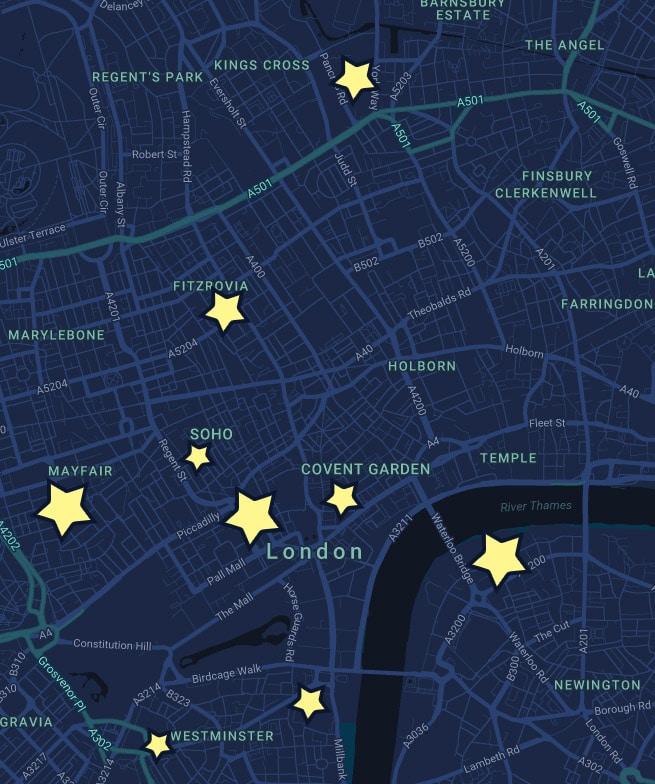 Lumiere London Map 2018