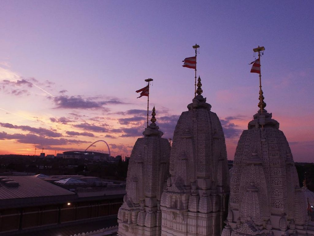 Neasden Temple North London Sunset
