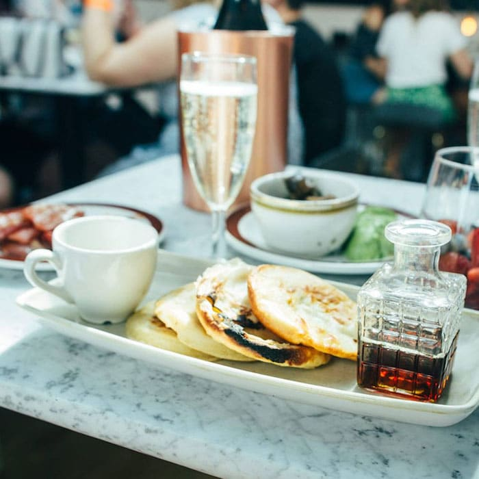Bottomless Brunch Pancakes Prosecco