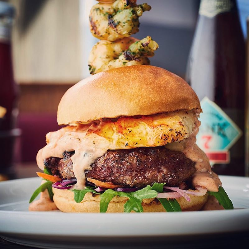 All Star Lanes burger