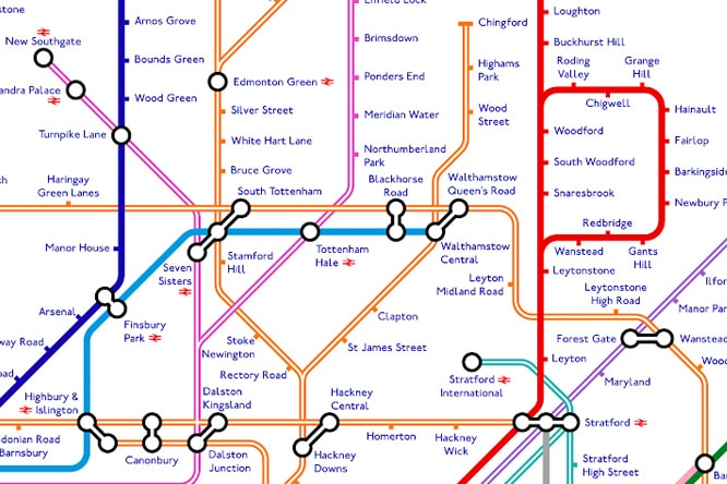 meanwhile in central london the tube map is becoming slightly bewildering with euston square euston kings cross and st pancras merging into an