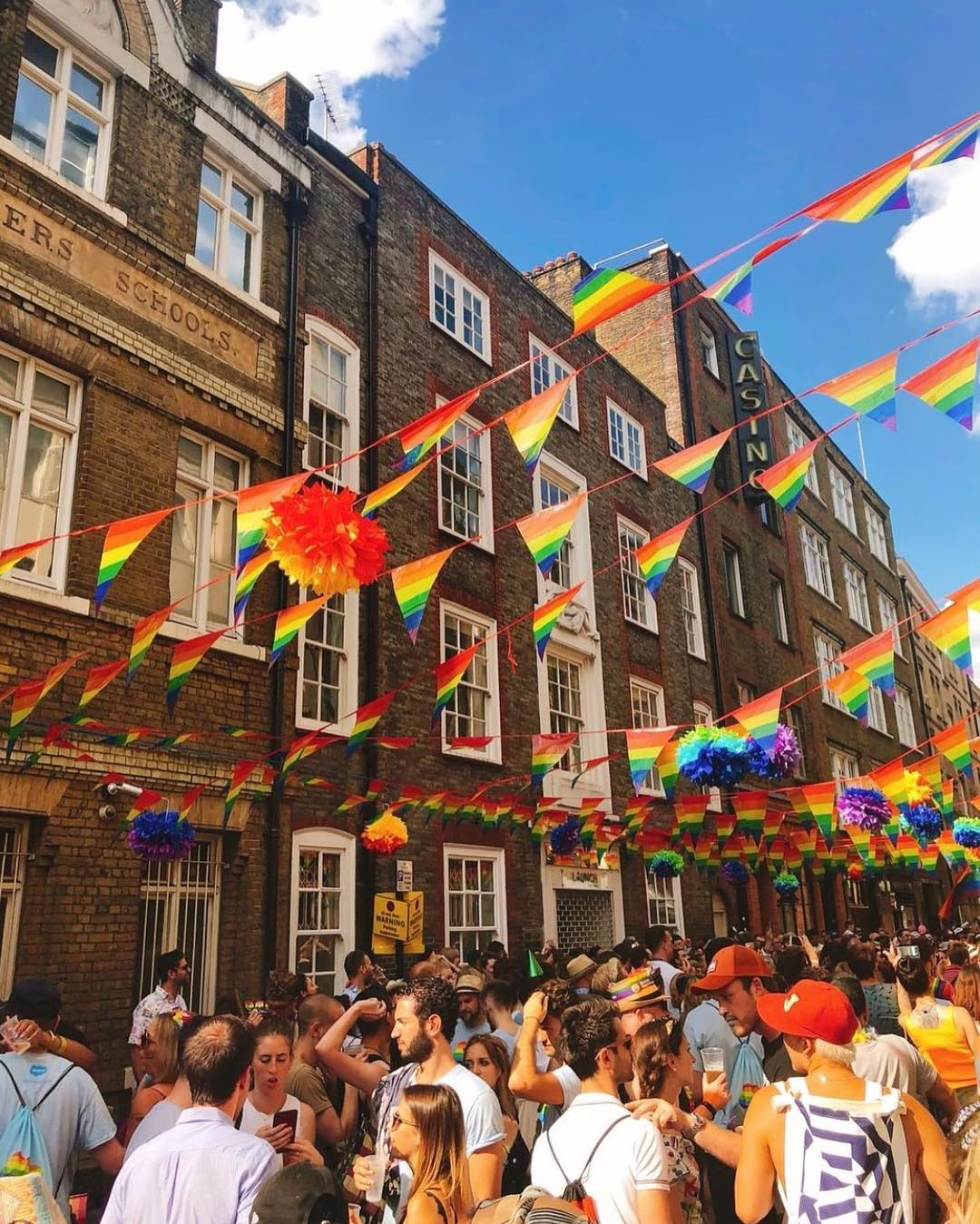 Pride flags soho