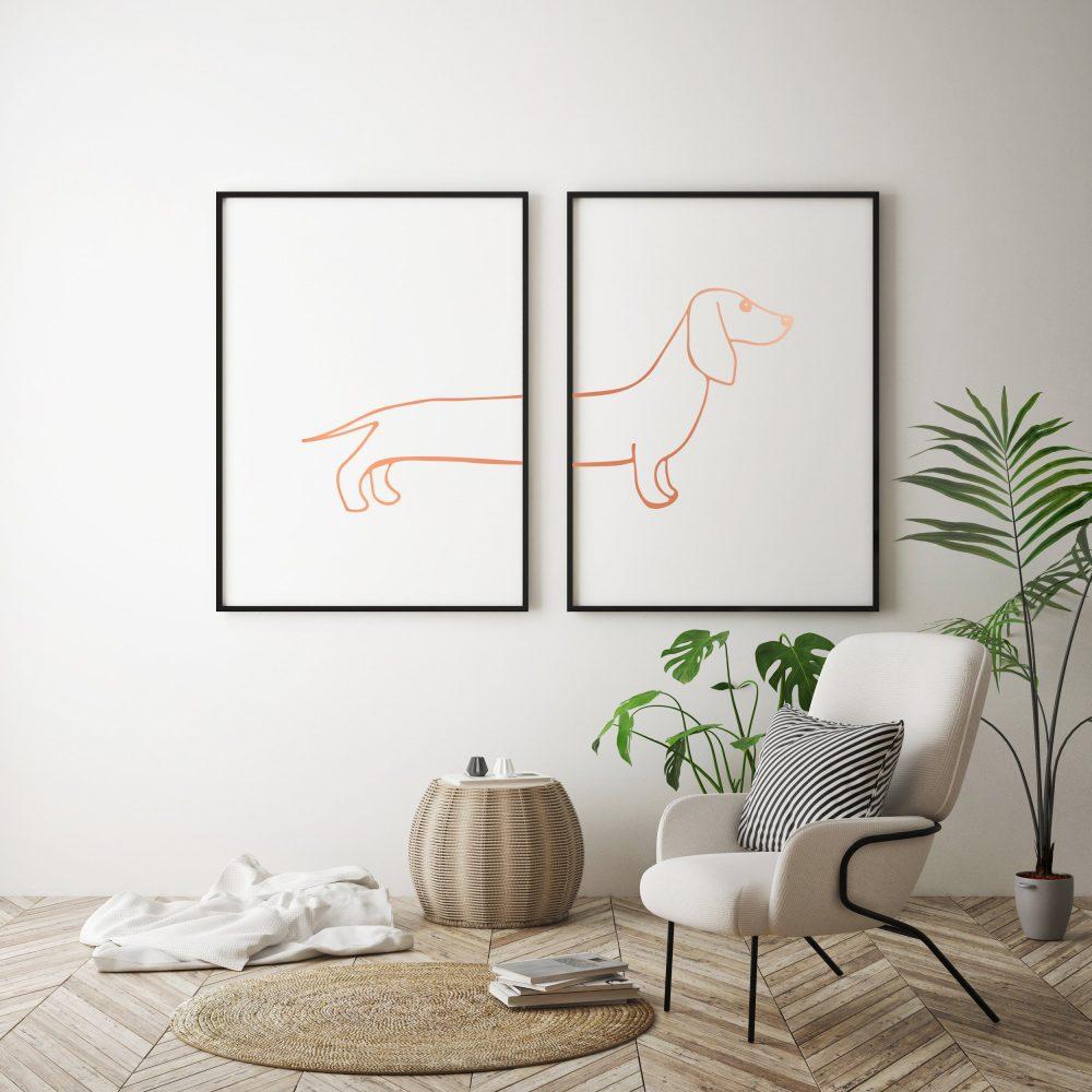 sausage-dog-print